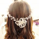 Bridal Rhinestone Bead Faux pearl Adjustable wire forehead band Hair Tiara HR338