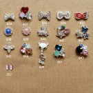 Wholesale 20 pcs bling Rhinestone 3D Nail Art Decoration CharmDIY lot ND1