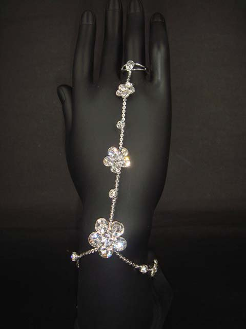 2 pcs Pair Sexy Rhinestone crystal sandal high heel slave Anklet with ring BR168