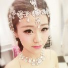 Bridal Rhinestone forehead band dangle headdress head chain Hair tiara HR232