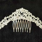 Bridal Crystal Rhinestone Headpiece butterfly Hair tiara Comb RB658