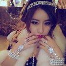 Bridal Rhinestone Great Gatsby inspire Victorical crown tiara bracelet set HR262