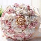 23 cm HANDMADE Wedding Brooch Bouquet Artificial Flower Faux pearl Posy WB26