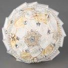 20 cm HANDMADE Wedding Brooch Bouquet Artificial Flower Faux pearl Posy WB31