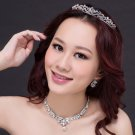 3 item Bridal Rhinestone Crystal Hair tiara tiara necklace earring set NR490