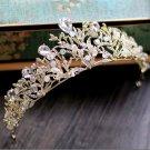 Wedding gold  AB crystal rhinestone tiara crown