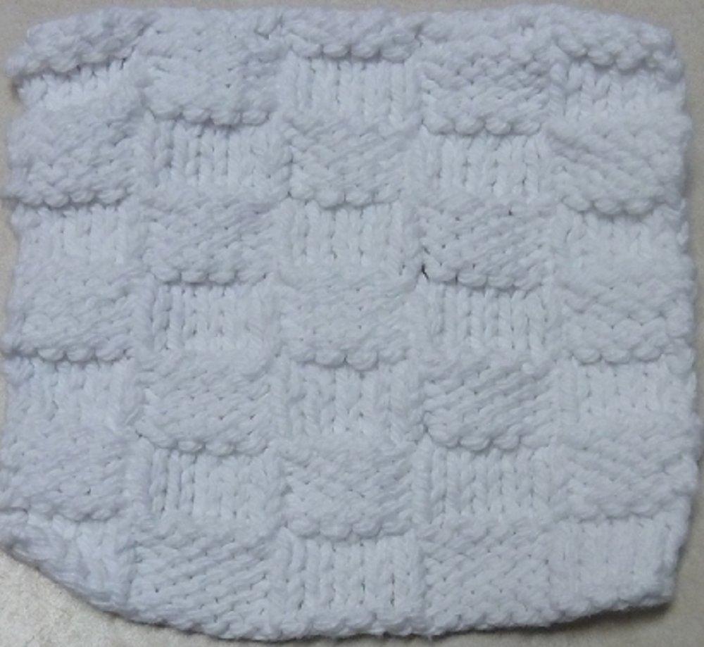 Knitted Serviette Pattern: Wicker Woven