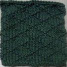 Knitted Serviette Pattern: Delightful Diamonds