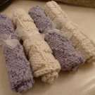 Lavender and Beige Slightly Damaged Serviettes