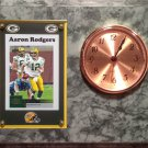 Aaron Rodgers Green Bay Packers Plaque clock.