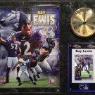 Ray Lewis Baltimore Ravens Photo Plaque clock.