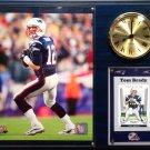 Tom Brady New England Patriots Photo Plaque clock.