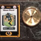 Hines Ward Pittsburgh Steelers Plaque clock.