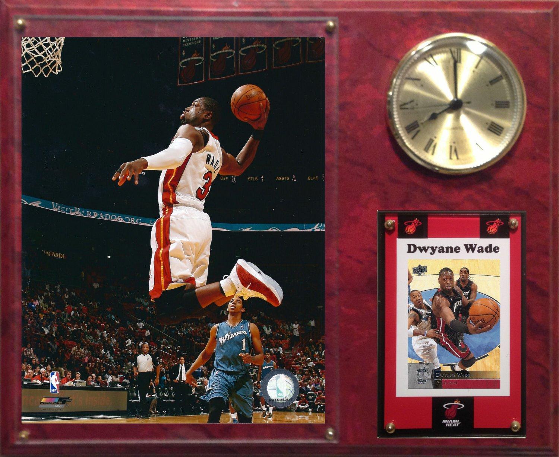 Dwyane Wade Miami Heat Photo Plaque clock.