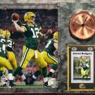 Aaron Rodgers Green Bay Packers Photo Plaque clock.