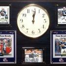 Tom Brady New England Patriots Plaque clock.