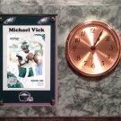 Michael Vick Philadelphia Eagles Plaque clock.