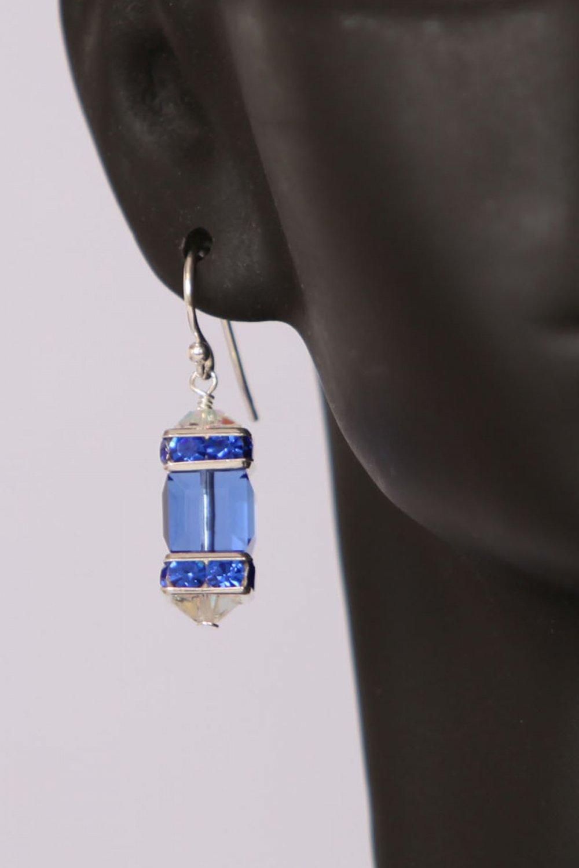Cubed Swarovski Drop Earrings