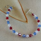 Red, White, & Blue Swarovski Bracelet