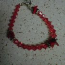 red and pink bracelet