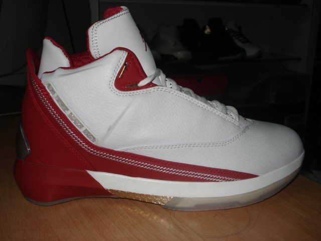 Mens Jordan XXII in White/Red