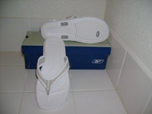 Womens CORFU White/Light Grey Casual Sandal size 6