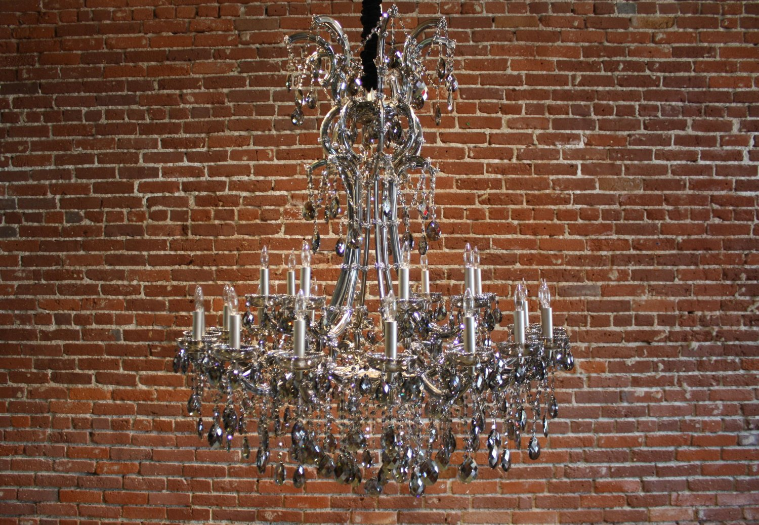 Smoky Crystal Chandelier