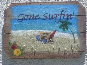 Gone Surfin Sign