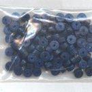 Polymer Clay Heishi, Blue Glitter