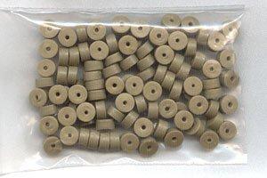 Polymer Clay Heishi, Khaki