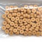Polymer Clay Heishi, Goldenrod