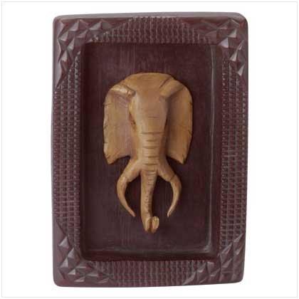 Elephant Mask Plaque - 35357