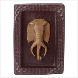 Elephant Mask Plaque - 35357