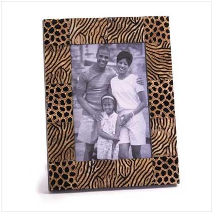 Zebra Design Wood Photo Frame - 36125