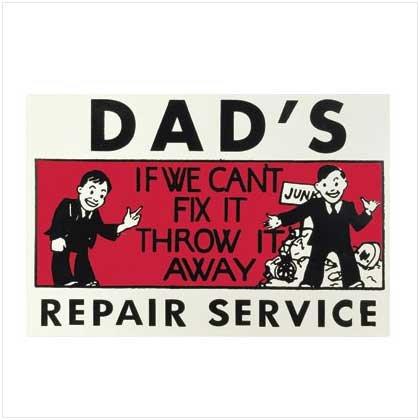Dad's Repair Service Tin Sign - 36847