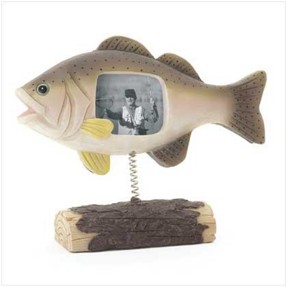 Resin Fish on Log Photo Frame - 37552