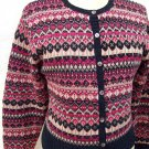 Eagles Eye knit crew cardigan sweater size L