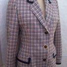 Domina wool check suit Jacket Blazer size Italy 46 USA 6