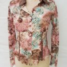 Alberto Makali lace fitted shirt top size L