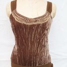 BCBG Max Azria velour tie on the side tank top size M