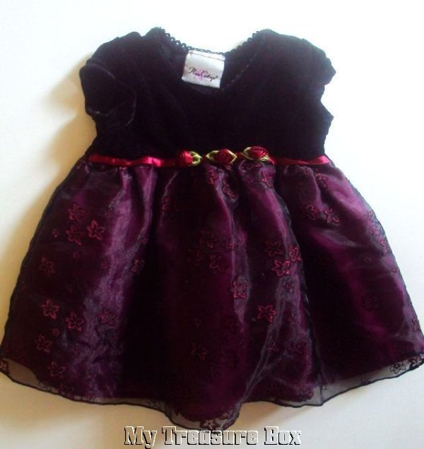 Rose Cottage 12 M Black Fuschia Dressy Dress