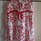 CHLOE'S CLOSET BOUTIQUE Red White Floral Dress 5/6