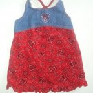 Zoey 2T Red BANDANA Denim Spring Summer Dress