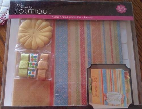 NEW Memory Boutique Mini Scrapbook Kit ~ FAMILY