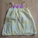 GENUINE KIDS OSHKOSH 4T Yellow White SUMMER DRESS