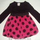 Xhilaration 12 M Hot Pink Black Polka Dot Cute Baby Dre