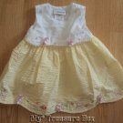YOUNGLAND 12 M Yellow Gingham Floral SUMMER SUN DRESS