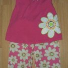 FRIENDS 4T 2 Pc Daisy Hot Pink Outfit EUC!