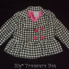 YOUNG HEARTS 24 M Boutique Baby Coat Black White