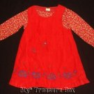 GYMBOREE SAMARA 2T/3 Red Floral Jumper Dress